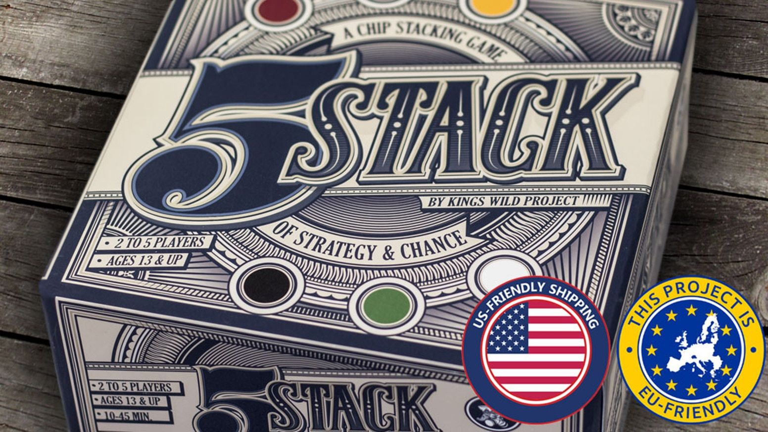5 Stack, A Chip Stacking Game of Strategy and Chance by