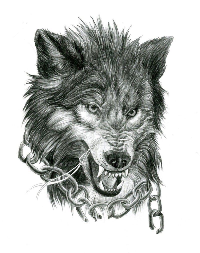 Картинка волков для тату