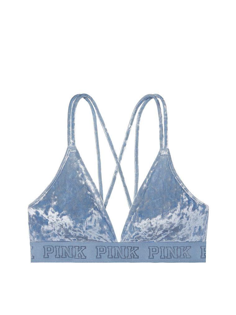 a5945656e85b9e Velvet Triangle Bralette - PINK - Victoria s Secret