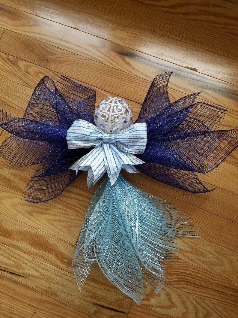 Deco Mesh Angel Christmas Decoration Craft Handmade Etsy