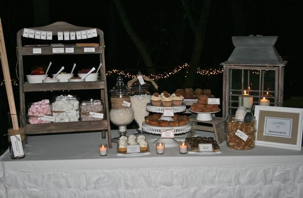 Outdoor Chili Party Dessert Table