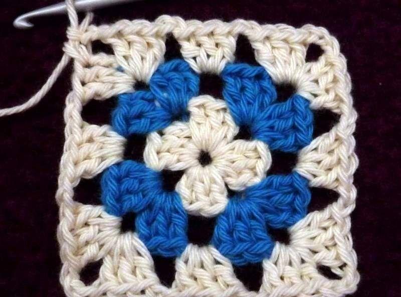 Granny Square 2 Kleuren Haken Crochet Tutorials Pinterest