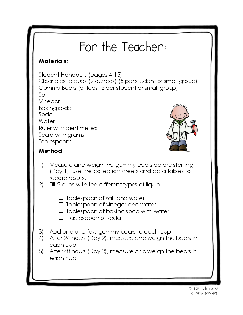 worksheet Gummy Bear Experiment Worksheet show details for the gummy bear experiment a lab scientific process