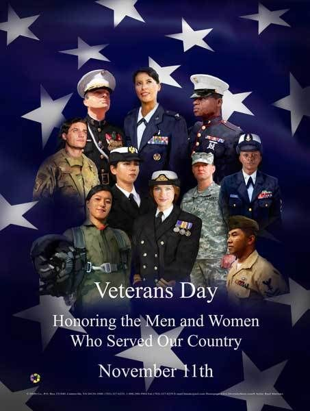 Item# VET5 Veterans Day Honoring the Men and Women Who Served Our Country (GSA)