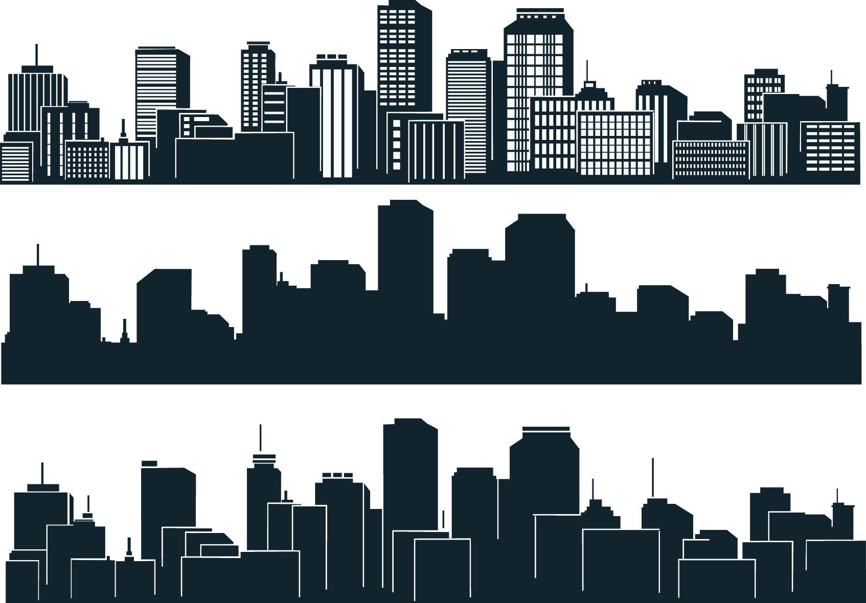 city silhouette - Google Search   Building silhouette, City buildings, City vector