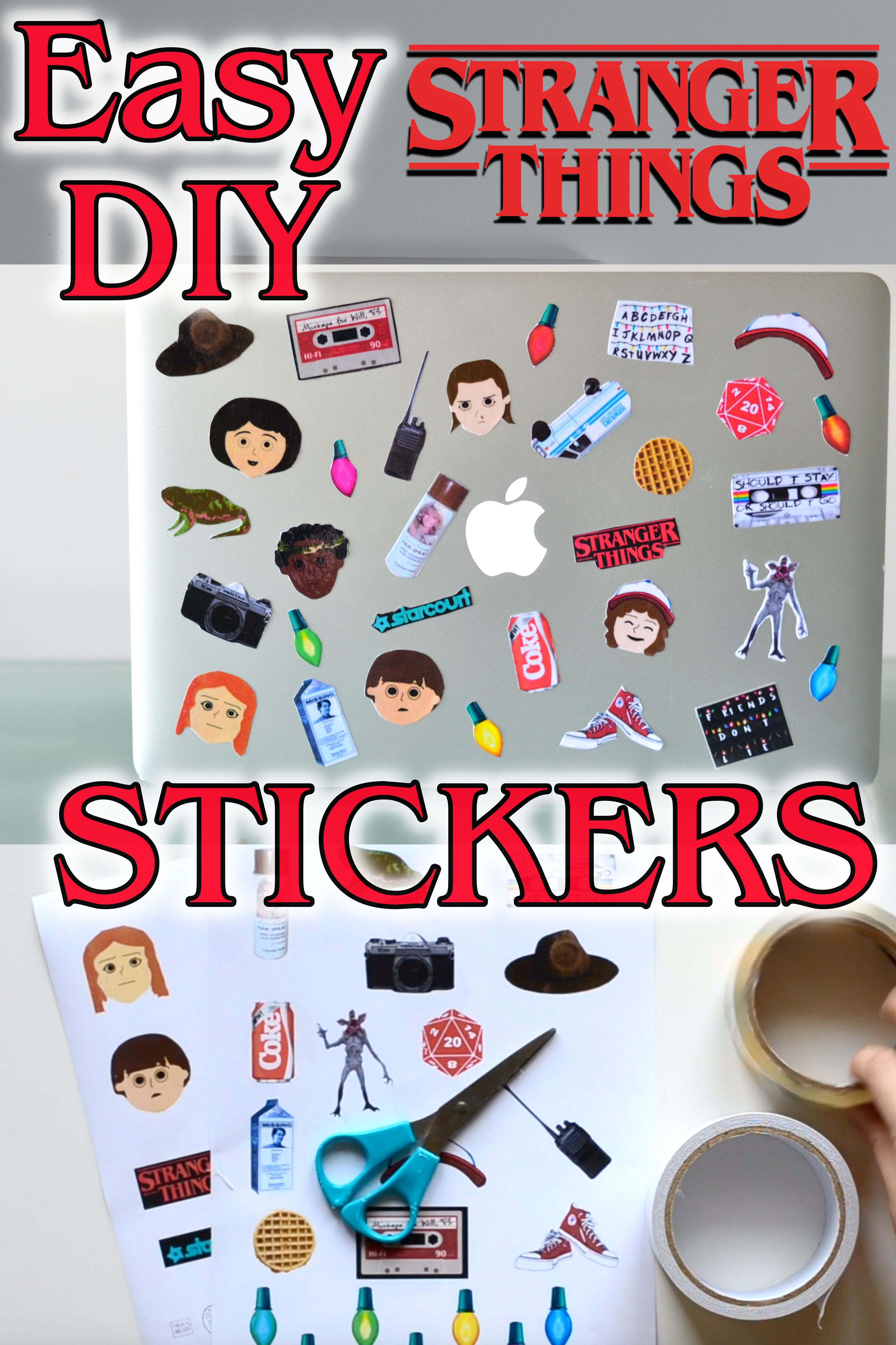 Diy Stranger Things Stickers For Phone Case Or Laptop