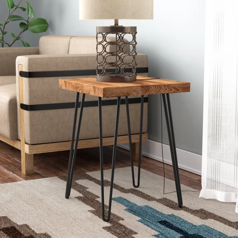 Lerner Old Elm Wood End Table In 2020 With Images Wood End Tables
