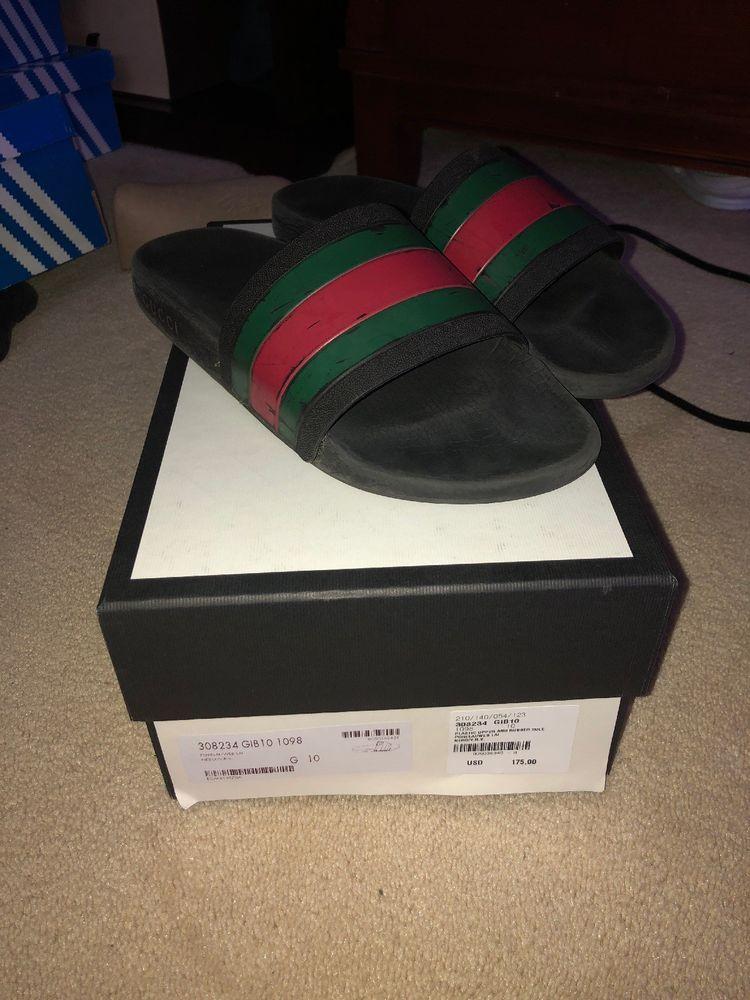 b26773d6757e69 Gucci Pursuit 72 Slide Men s Black Spa Sandals Size 10 G   11 US  fashion   clothing  shoes  accessories  mensshoes  sandals (ebay link)