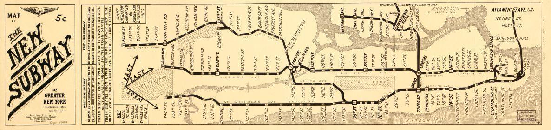 New York Wall Art Antique: New York Subway Map | Subway map, Antique ...