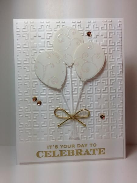 FS413 White on White Balloons by beesmom - Cards and Paper Crafts at Splitcoaststampers