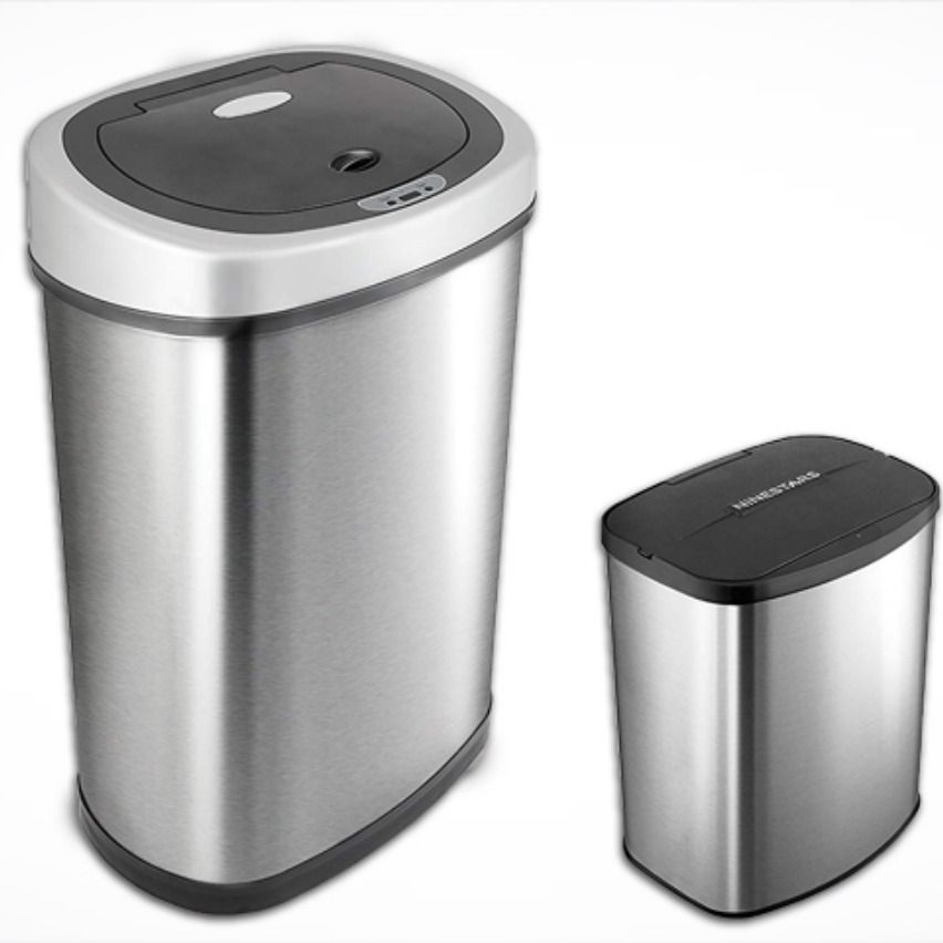 Ninestars Automatic Touchless Infrared Motion Sensor Trash Can Kitchen Trash Cans Trash Can Bathroom Trash Can