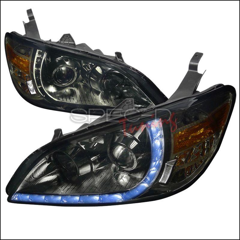 Honda Civic 20042005 Smoke R8 Style Projector Headlights