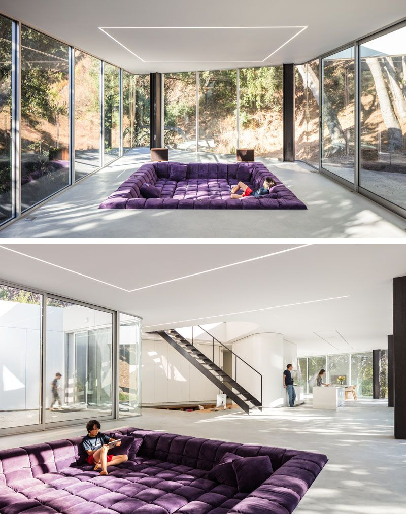 This New House Has A Sunken Living Room And A Sunken Home Office