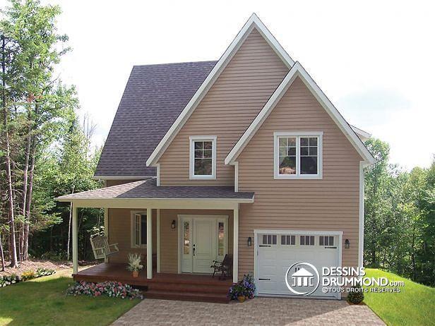 W2635 - Maison champêtre, 3 à 4 chambres, salle familiale avec foyer - site pour plan de maison