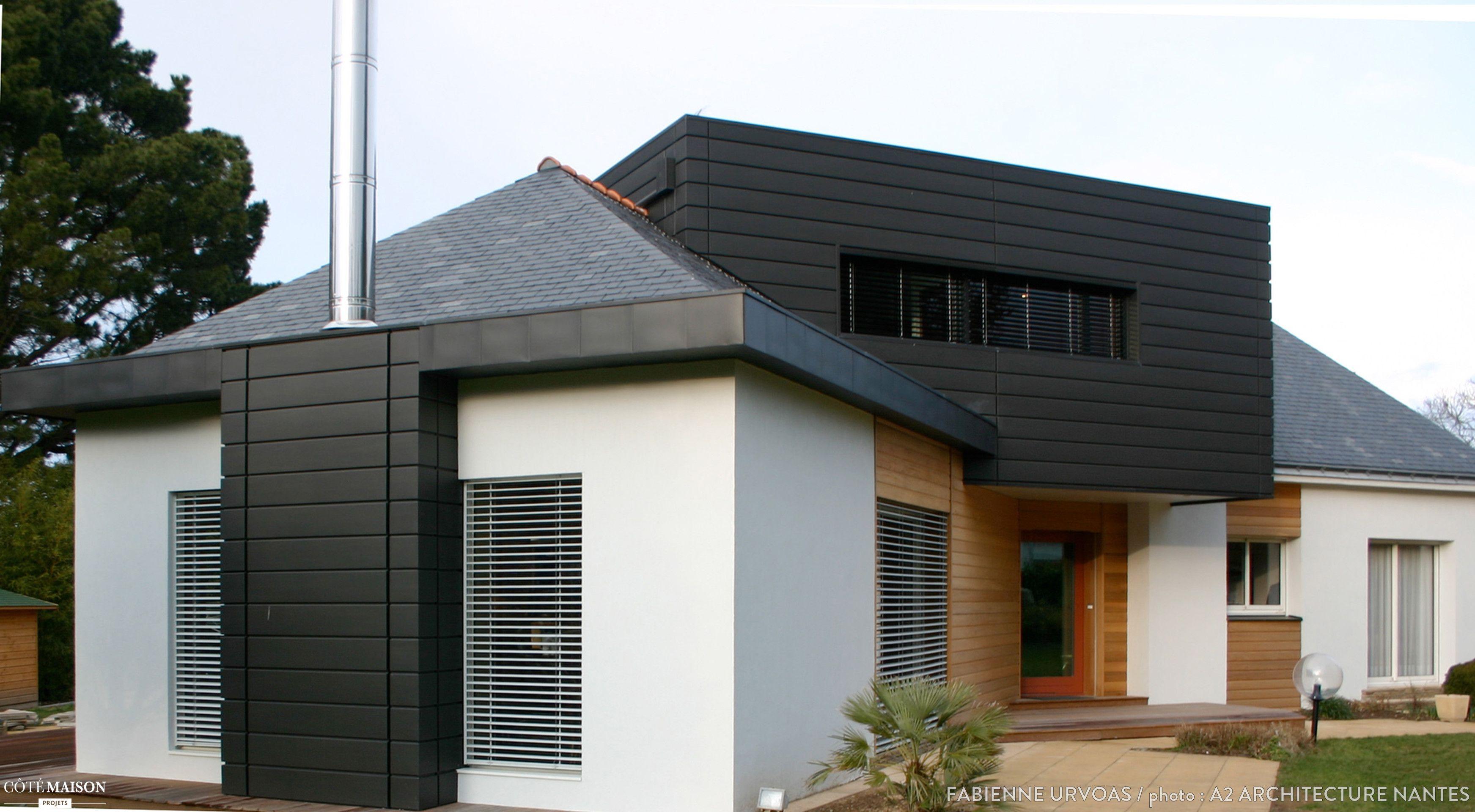 sur l vation d 39 une maison des ann es 70 nantes 44300. Black Bedroom Furniture Sets. Home Design Ideas