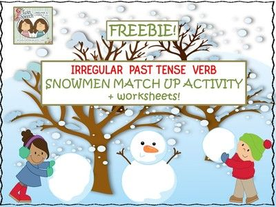 FREEBIE!! Irregular Past Tense Verb Snowmen Match Up from Shanda from Shanda on TeachersNotebook.com (10 pages) - Irregular past tense verbs are tricky! They require the act of memorization because they go against all of the normal rules on how to make a verb go into past tense form. They are difficult for students to learn!