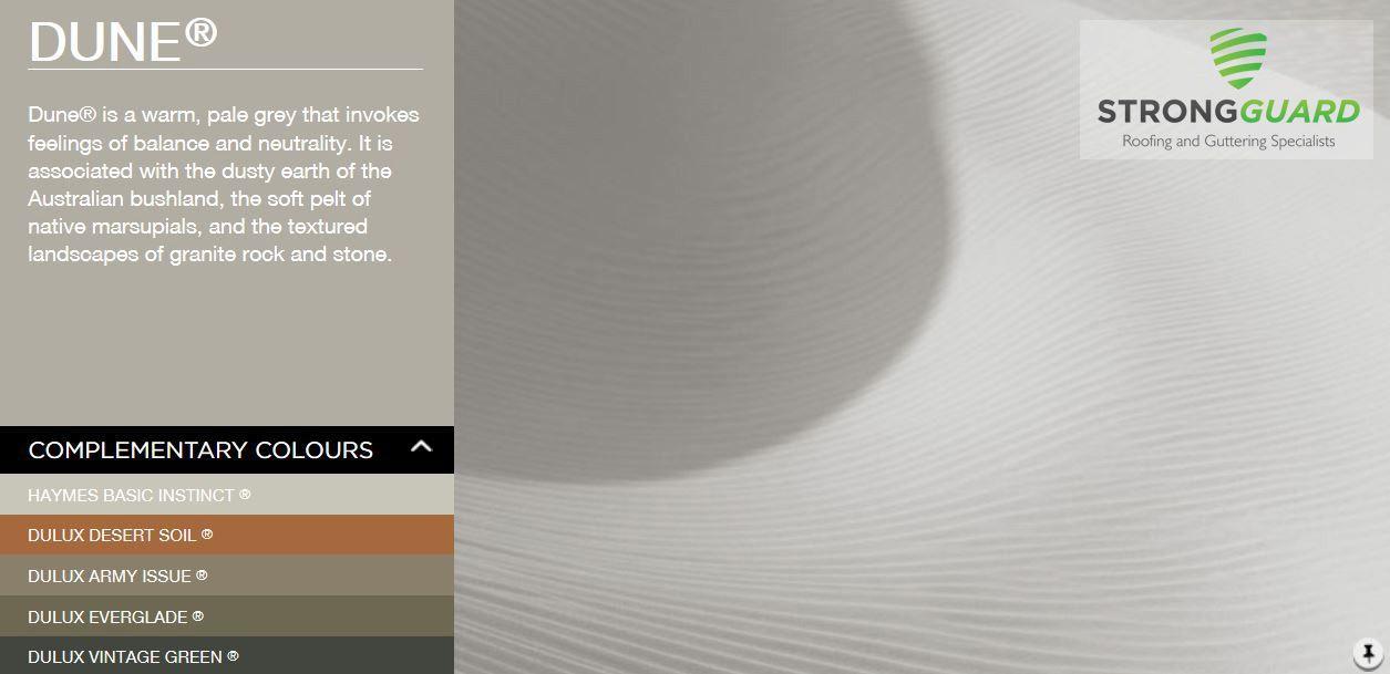 Dune Strongguard Colorbond Roof Guttering Colour Exterior Colour Schemes Pinterest