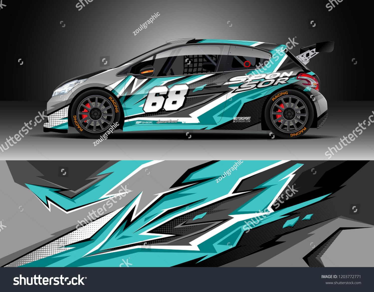 Racing Car Wrap Design Vector Graphic Abstract Stripe Racing Background Kit Designs For Wrap Vehicle Race Car Rally Adve Car Wrap Design Car Wrap Race Cars