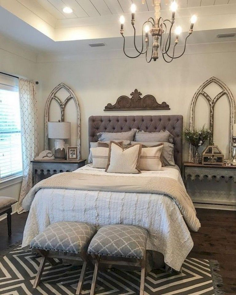 110+ Best Farmhouse Master Bedroom Decor Ideas # ...