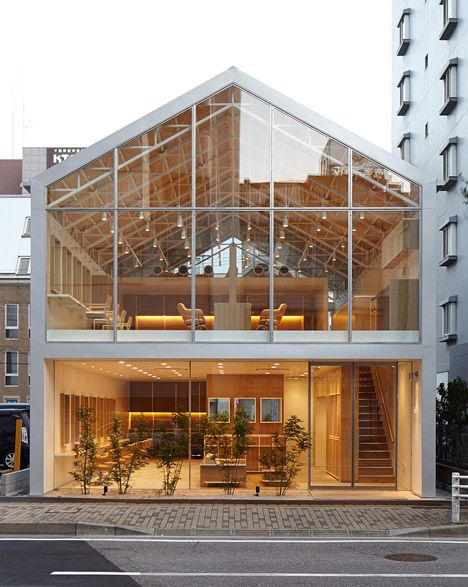 Ryo Matsuis Hairdo salon has a transparent houseshaped facade