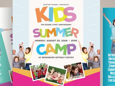 121-creative-market-kids-summer-camp-flyer-templates-kinzishots - workshop flyer template