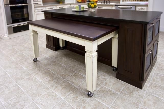 Roll Out Table That Can Be Tucked Away