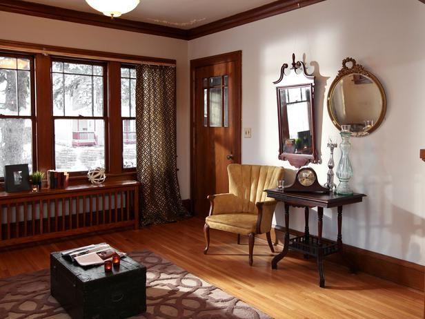 1920s Bungalow Restoration On Rehab Addict Eclectic Living Room Bungalow Interiors Bungalow Living Rooms