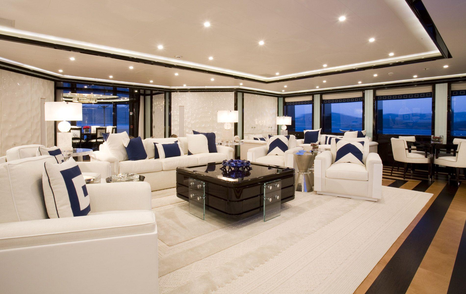 Luxury sailing yachts interior