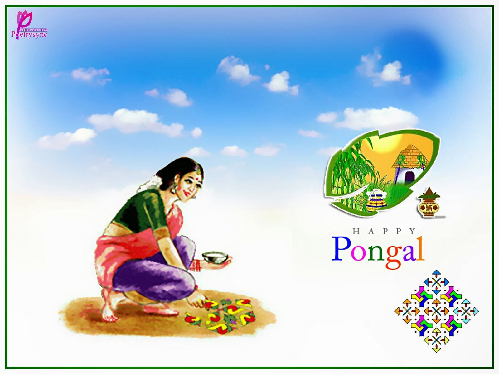 Happy pongal wishes picture in marathi pongal wishes pinterest happy pongal greeting images with wishes messages m4hsunfo