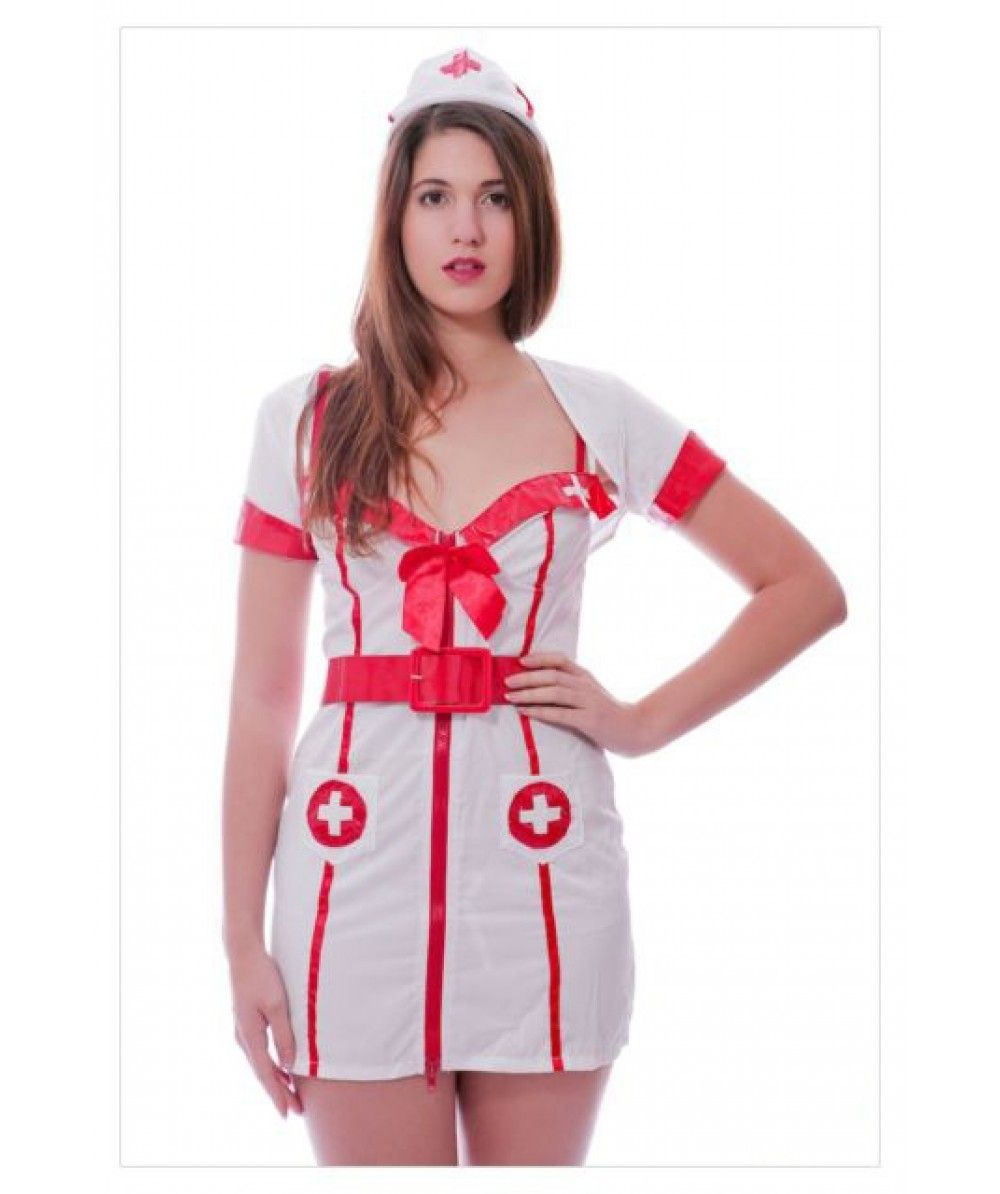 fedc1155220 Adult Woman s Hospital Honey Sexy White Nurse Fancy Dress Costume £15.99