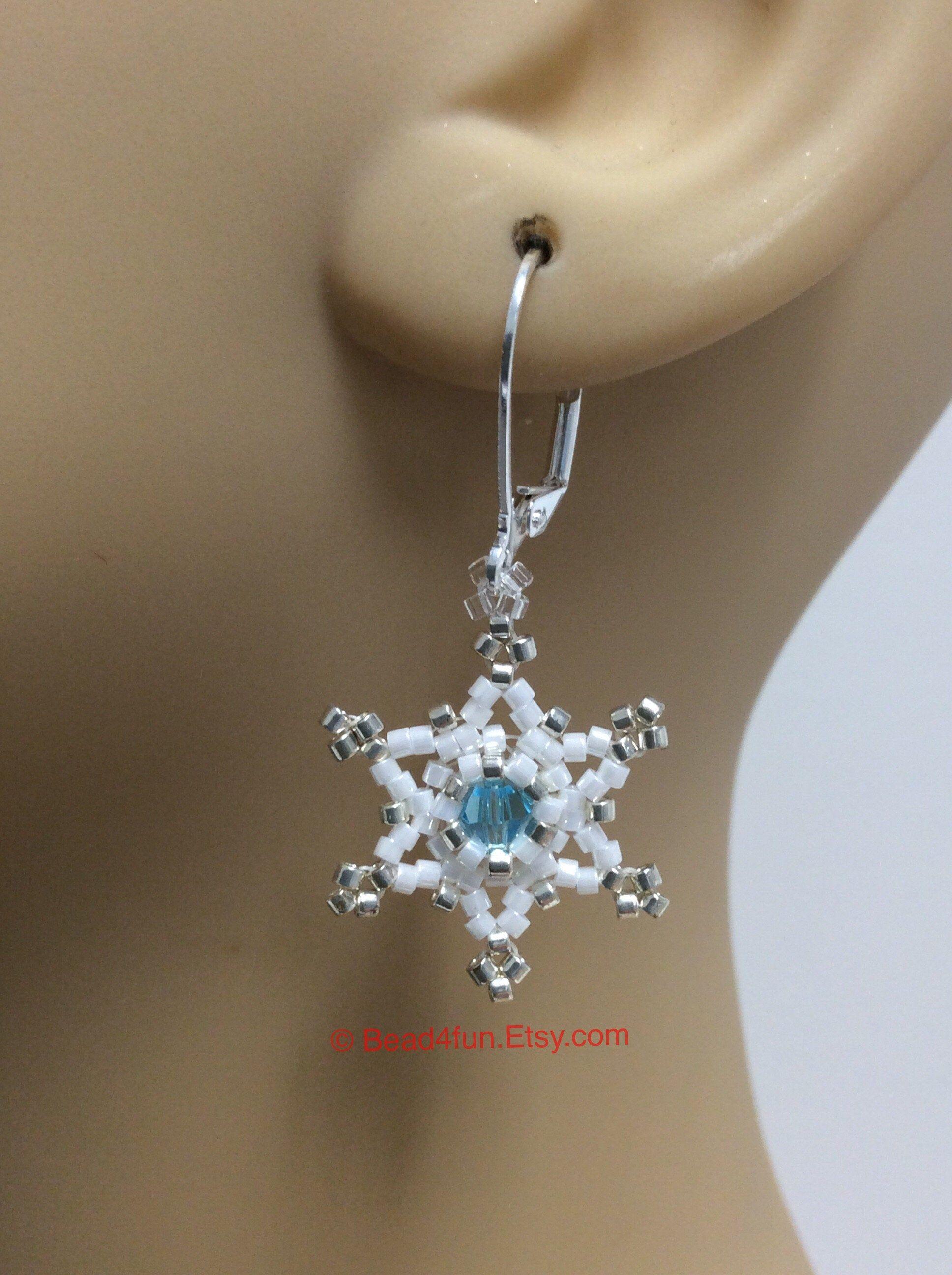 Dangle Silver SNOWFLAKE Long Earrings STAR Drop Hook CHRISTMAS Winter Gift