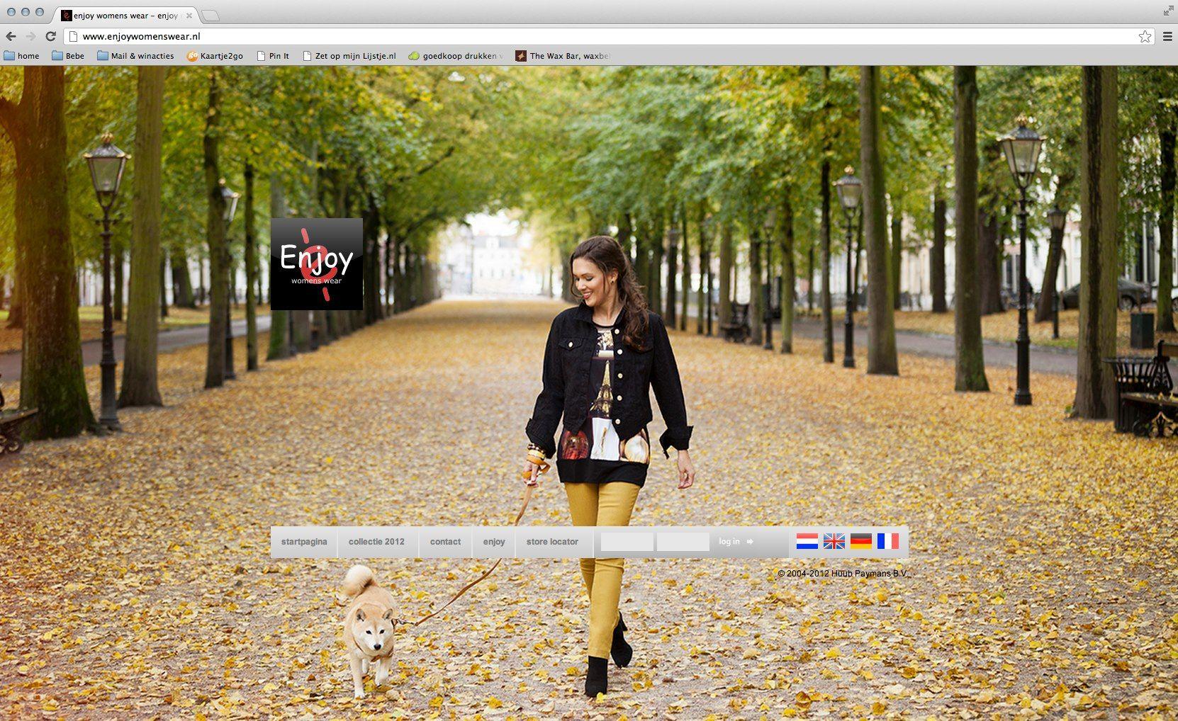 Enjoy Womanswear Fotografie: Dani van Oeffelen Styling: Marike Janssen Haar & make-up: Arnoux Maitimo Model: Margriet Haring & Foxy Assistent: Jonas van der Zeeuw