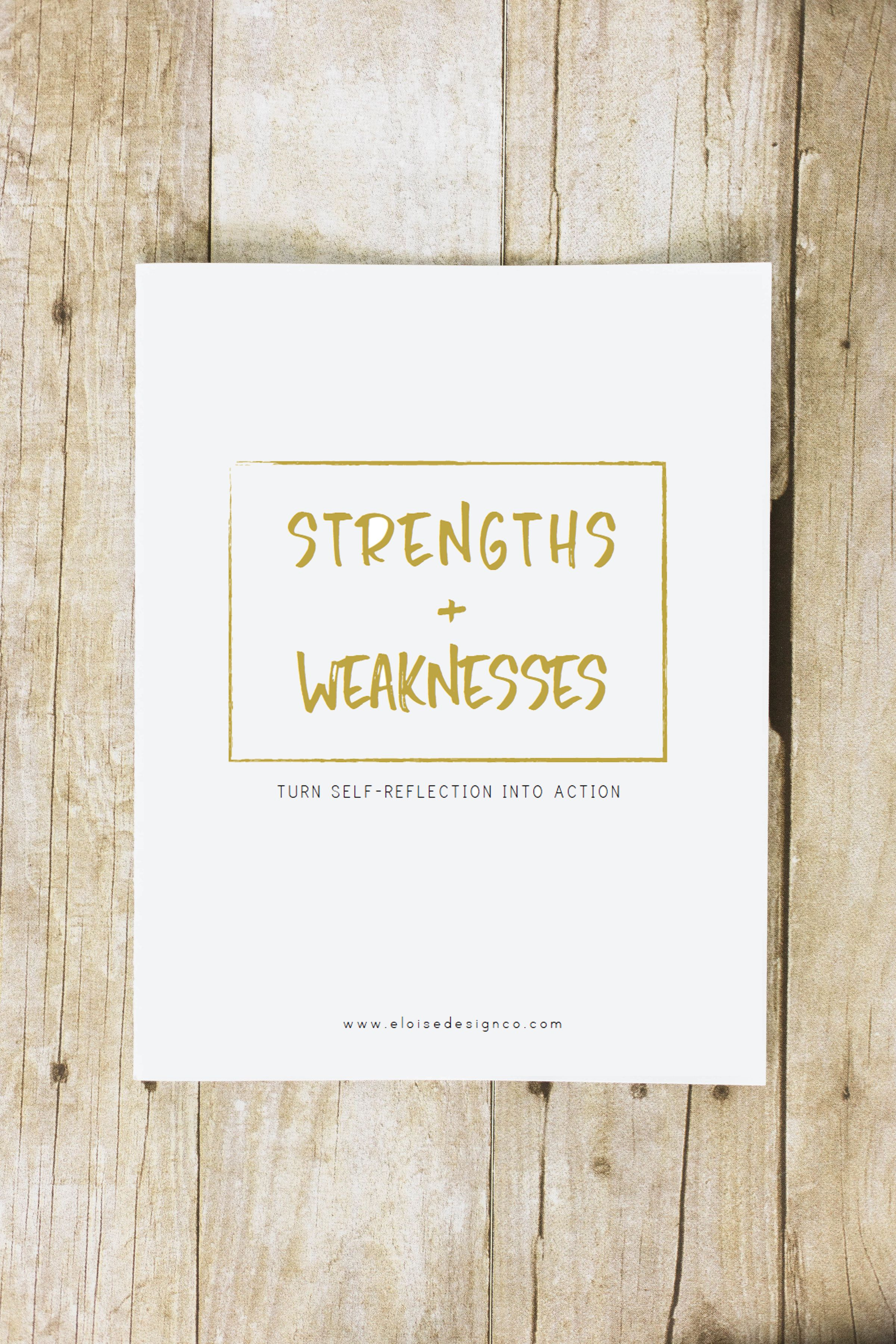 Discovering Your Strengths Weaknesses