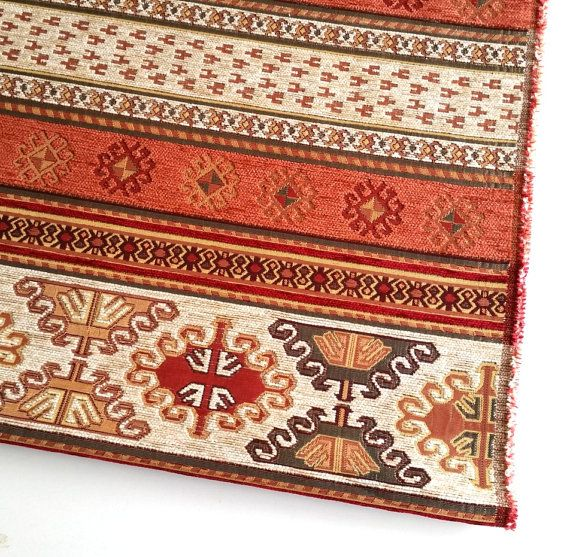 Ethnic Tribal Style Chenille Upholstery Fabric Aztec Navajo Fabric