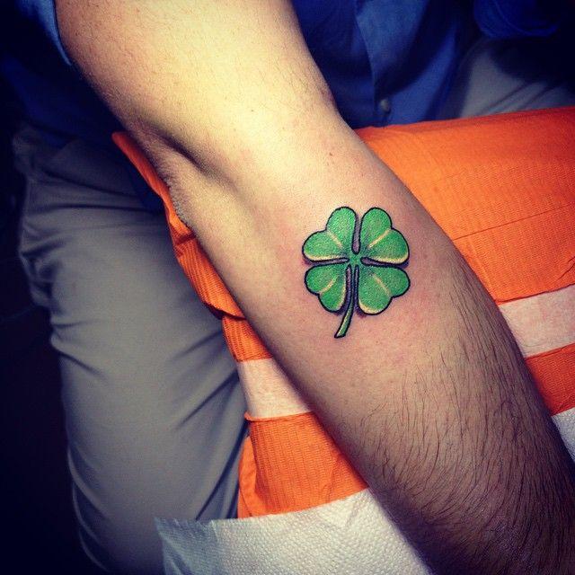 45 Cute Four Leaf Clover Tattoo Ideas And Designs Lucky Grass Four Leaf Clover Tattoo Clover Tattoos Four Leaf Tattoos