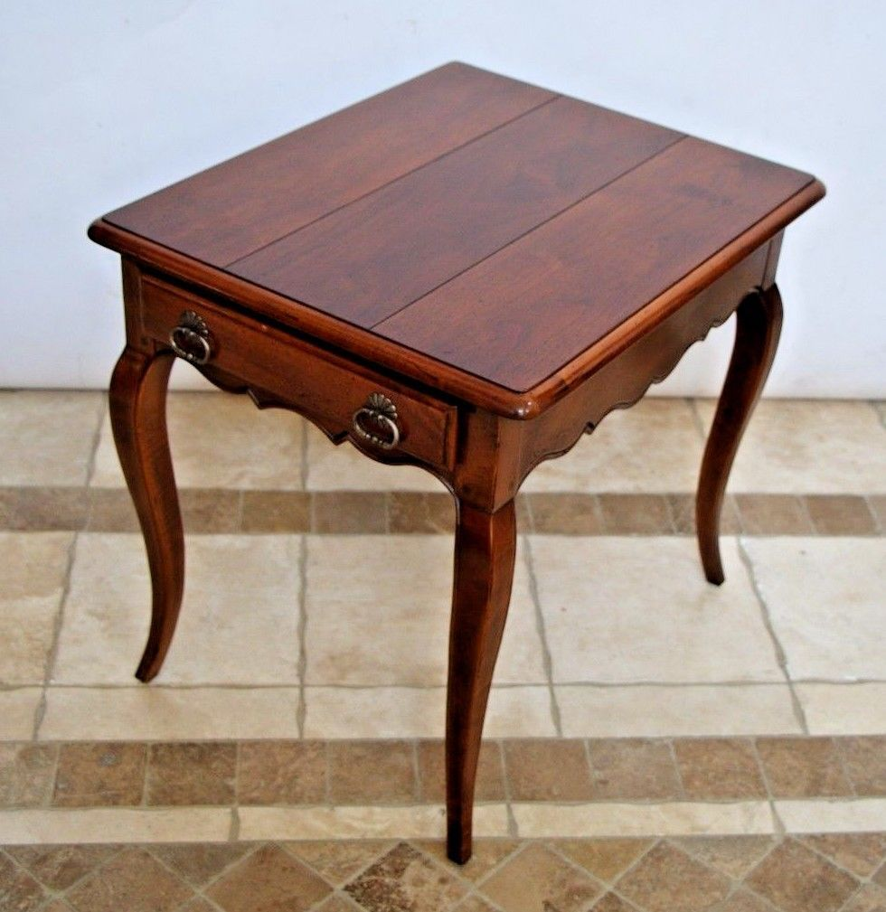 Henredon French Country Pierre Deux End Side Lamp Coffee Table
