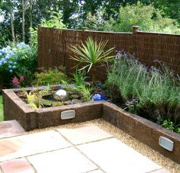 recycled hardwood railway sleepers - Garden Ideas Using Sleepers