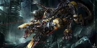 image result for travis anderson robot dragon mech cyborgs robots