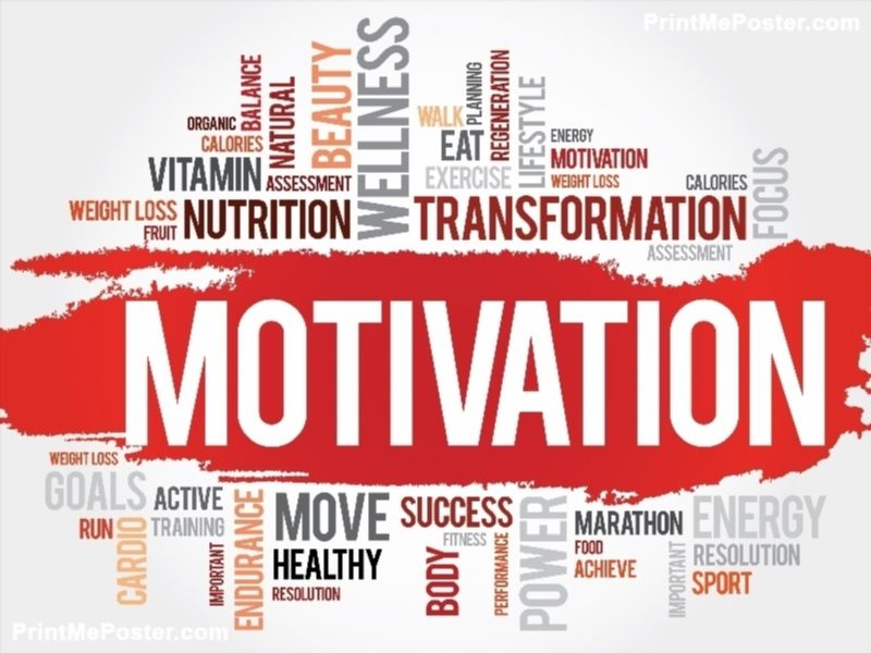MOTIVATION word cloud, fitness, sport, health concept poster Word