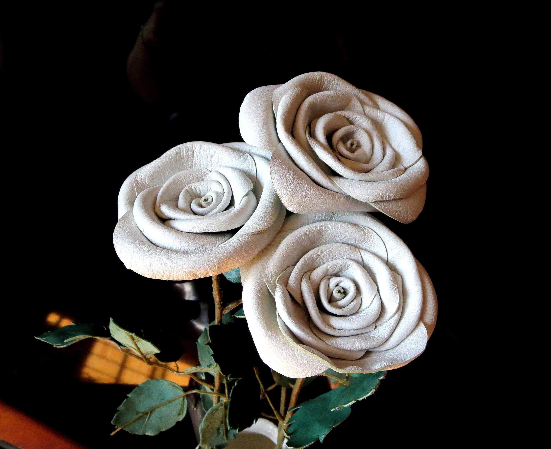 Handmade leather rose, Anniversary gifts, 3rd wedding