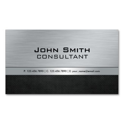 Professional elegant modern silver black metal business cards make professional elegant modern silver black metal business cards make your own business card with this reheart