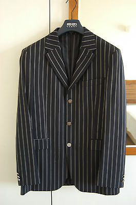 d37b407f4a2 KENZO HOMME BLAZER JACKET NAVY STRIPED MADE IN FRANCE 50 R NEW ...