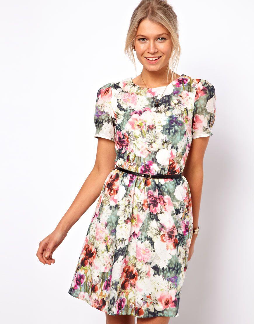 5435a3603d79 Oasis | Oasis Photographic Floral Print Dress at ASOS | Bikini Boho ...