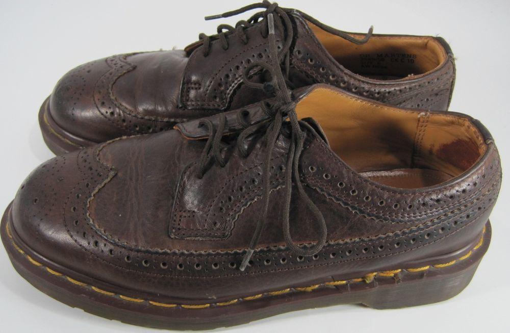 Dr Marten Men Wingtip Oxford Shoes Size 6 Brown Air Cushion Sole #DrMartens  #Oxfords