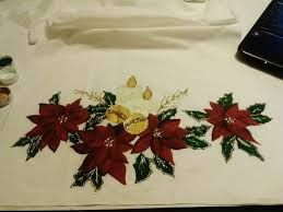 Resultado de imagen para caminos de mesa en pintura de tela