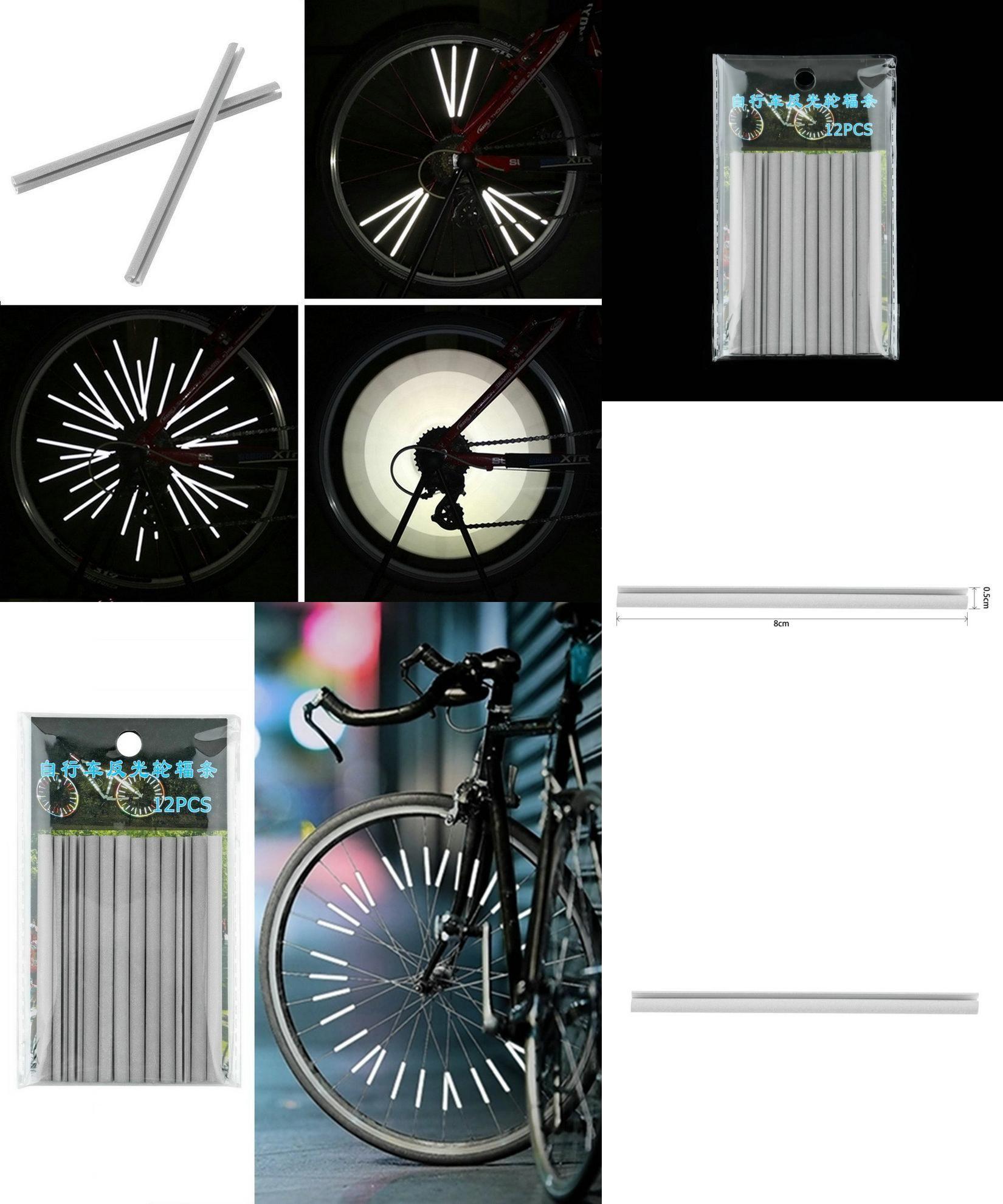 39d2017b064 [Visit to Buy] 12pcs/set Bicycle Wheel Spoke Reflector Reflective Mount  Clip Wheel Rim Spoke Bike Mount Strip Reflector Warning Light Tube  #Advertisement
