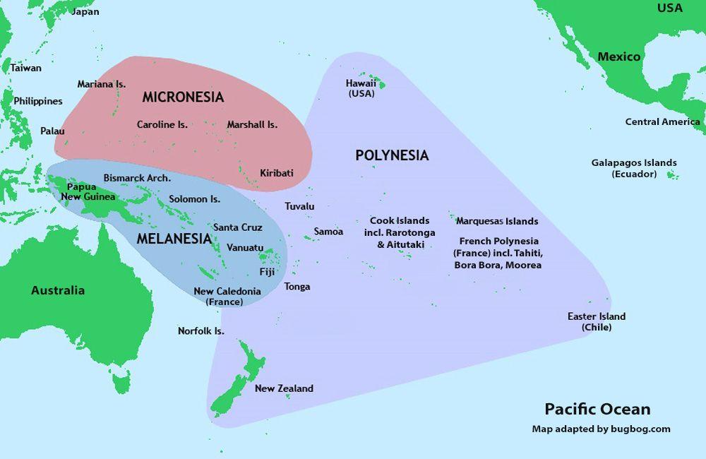 tahiti and hawaii map South Pacific Map Hawaii Polynesia Tahiti Fiji And New Zealand tahiti and hawaii map