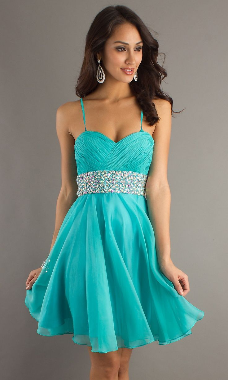 Aqua blue...reminds me of Princess Jasmine | homecoming dresses ...