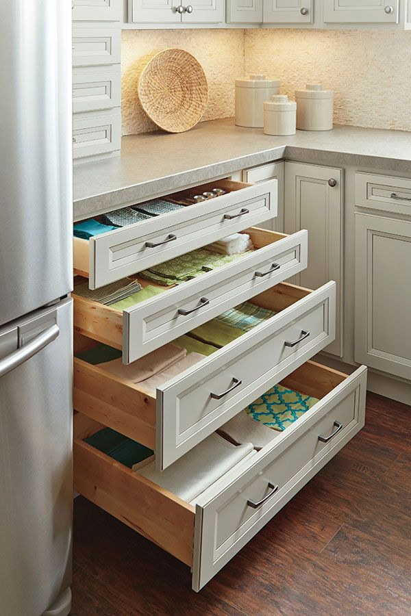 Use Our Four Drawer Base Cabinet To Stay Organized And Keep