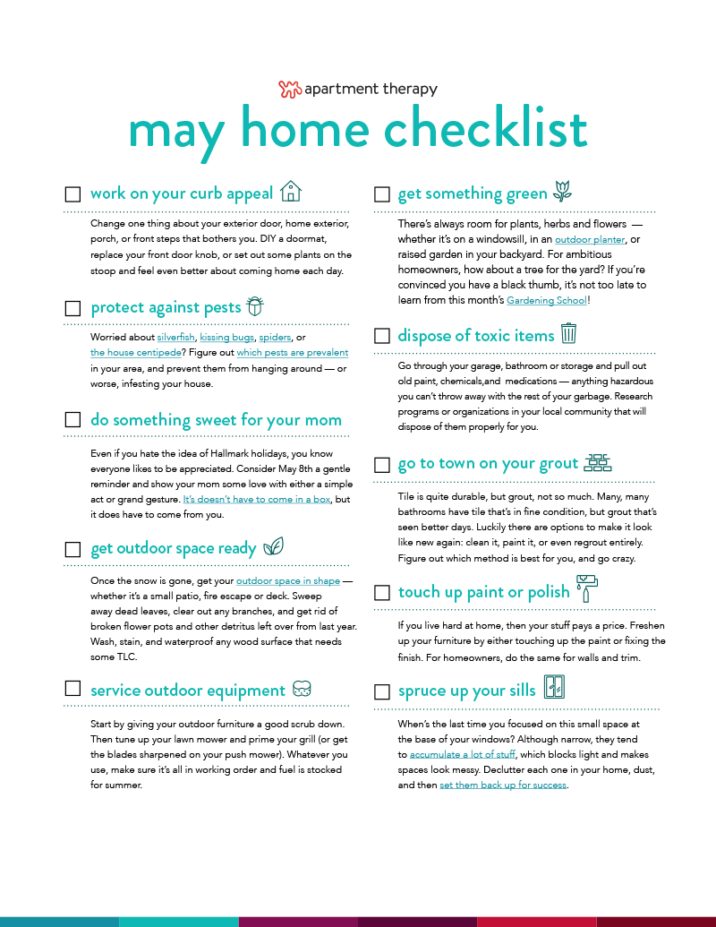Checklist May  May    Binder Inserts Cleaning